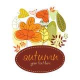Drapeau d'automne Photos stock