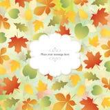 Drapeau d'automne illustration de vecteur
