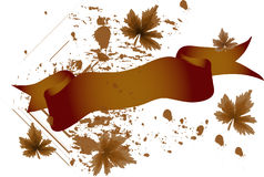 Drapeau d'automne Image libre de droits
