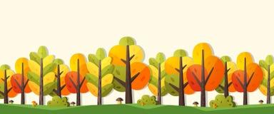 Drapeau d'automne Images stock