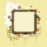 Drapeau d'automne avec le nuage Illustration Libre de Droits