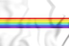 drapeau 3D d'Oblast autonome juif, Russie illustration stock