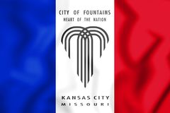 drapeau 3D de Kansas City Missouri, Etats-Unis illustration libre de droits