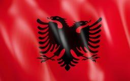 drapeau 3D de l'Albanie illustration libre de droits