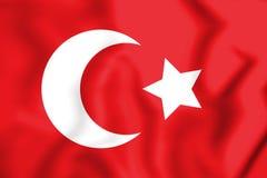 drapeau 3D de l'empire de tabouret 1299-1923 illustration stock