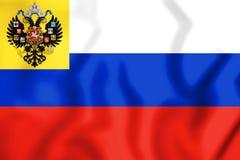 drapeau 3D de l'empire russe 1914-1917 illustration stock