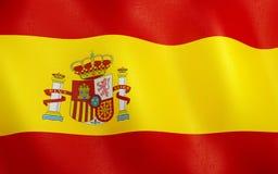drapeau 3D de l'Espagne illustration stock