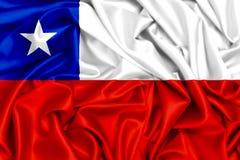 drapeau 3d de l'ondulation du Chili Images libres de droits