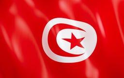drapeau 3D de la Tunisie illustration libre de droits
