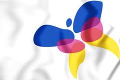 drapeau 3D de Lingewaard et de x28 ; Gelderland& x29 ; , Les Pays-Bas Images stock