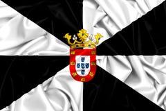 drapeau 3d de ondulation de Ceuta, Espagne Photos stock