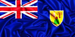drapeau 3d de ondulation des Îles Turques et Caïques illustration stock