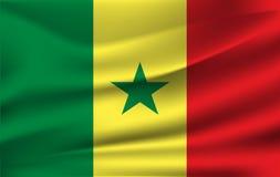 drapeau 3D de ondulation du Sénégal illustration libre de droits