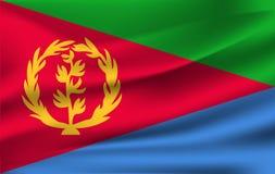 drapeau 3d de ondulation de l'Érythrée illustration libre de droits