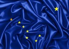 drapeau 3d de ondulation de l'Alaska Images libres de droits