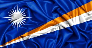 drapeau 3d de ondulation de Marshall Islands Image stock