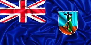 drapeau 3d de ondulation de Montserrat illustration stock