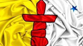 drapeau 3d de ondulation de Nunavut illustration libre de droits