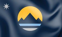 drapeau 3D de Reno Nevada, Etats-Unis illustration libre de droits