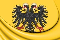 drapeau 3D de Roman Empire saint 1400-1806 illustration stock
