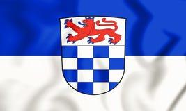 drapeau 3D de Sankt Augustin North Rhine-Westphalia, Allemagne illustration de vecteur
