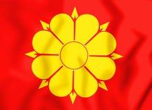 drapeau 3D de Trondheim, Norvège Images stock
