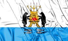 drapeau 3D de Veliky Novgorod, Russie Images libres de droits