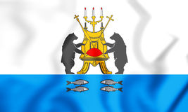 drapeau 3D de Veliky Novgorod, Russie Photos libres de droits