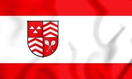 drapeau 3D de Werther North Rhine-Westphalia, Allemagne illustration de vecteur