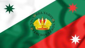 drapeau 3D drapeau de Regency de Mexicain du premier de l'empire mexicain illustration stock