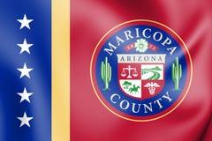 drapeau 3D du comté de Maricopa Arizona, Etats-Unis illustration libre de droits