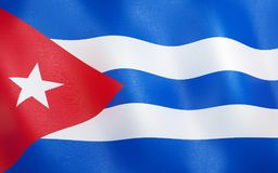 drapeau 3d du Cuba illustration de vecteur