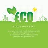 Drapeau d'Eco Photos libres de droits