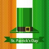 Drapeau d'Irlandais de jour de St Patrick Photos libres de droits