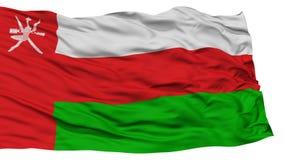 Drapeau d'isolement de l'Oman illustration libre de droits