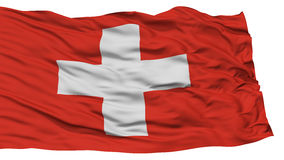 Drapeau d'isolement de la Suisse Images libres de droits