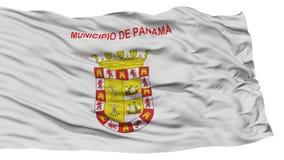 Drapeau d'isolement de Panamá City Photos libres de droits