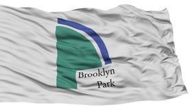 Drapeau d'isolement de ville de Brooklyn Park, Etats-Unis d'Amérique Images stock