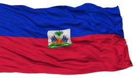 Drapeau d'isolement du Haïti Photographie stock libre de droits