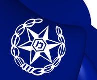 Drapeau d'Israel Police illustration stock