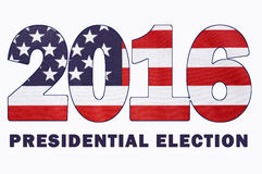 Drapeau d'élection présidentielle des Etats-Unis 2016 Photos libres de droits