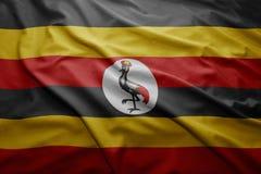 Drapeau d'Ougandais Photos stock
