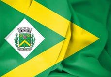 """drapeau 3D sao Paulo State, Brésil de Santa Barbara d de """"Oeste illustration de vecteur"""