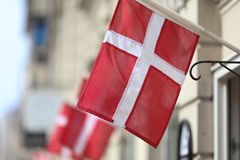 Drapeau danois Photographie stock