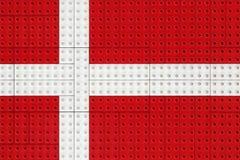 Drapeau danois fait avec de petites briques illustration libre de droits