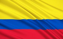 Drapeau de Bajo Nuevo Bank, Colombie illustration stock