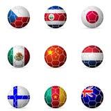 Drapeau de ballon de football Images libres de droits
