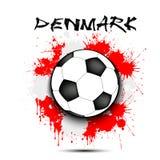 Drapeau de ballon de football et du Danemark Images stock