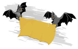 Drapeau de 'bat' illustration de vecteur