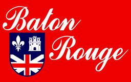 Drapeau de Baton Rouge en Louisiane, Etats-Unis images stock